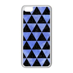 Triangle3 Black Marble & Blue Watercolor Apple Iphone 5c Seamless Case (white) by trendistuff