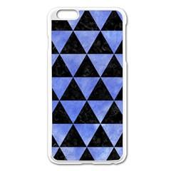 Triangle3 Black Marble & Blue Watercolor Apple Iphone 6 Plus/6s Plus Enamel White Case by trendistuff