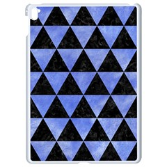 Triangle3 Black Marble & Blue Watercolor Apple Ipad Pro 9 7   White Seamless Case by trendistuff