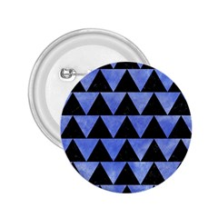 Triangle2 Black Marble & Blue Watercolor 2 25  Button