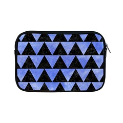 Triangle2 Black Marble & Blue Watercolor Apple Ipad Mini Zipper Case by trendistuff