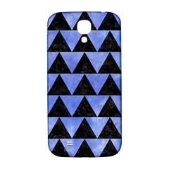 Triangle2 Black Marble & Blue Watercolor Samsung Galaxy S4 I9500/i9505  Hardshell Back Case by trendistuff