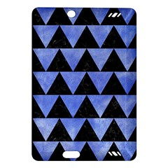 Triangle2 Black Marble & Blue Watercolor Amazon Kindle Fire Hd (2013) Hardshell Case by trendistuff