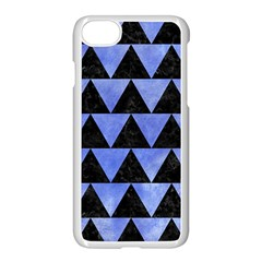 Triangle2 Black Marble & Blue Watercolor Apple Iphone 7 Seamless Case (white) by trendistuff