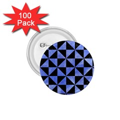Triangle1 Black Marble & Blue Watercolor 1 75  Button (100 Pack)  by trendistuff