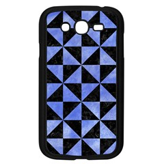 Triangle1 Black Marble & Blue Watercolor Samsung Galaxy Grand Duos I9082 Case (black) by trendistuff