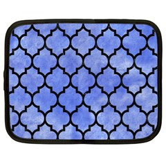 Tile1 Black Marble & Blue Watercolor (r) Netbook Case (xl) by trendistuff