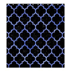 Tile1 Black Marble & Blue Watercolor Shower Curtain 66  X 72  (large) by trendistuff