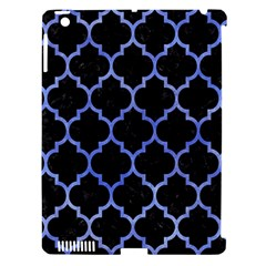 Tile1 Black Marble & Blue Watercolor Apple Ipad 3/4 Hardshell Case (compatible With Smart Cover) by trendistuff