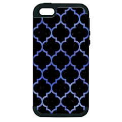 Tile1 Black Marble & Blue Watercolor Apple Iphone 5 Hardshell Case (pc+silicone)