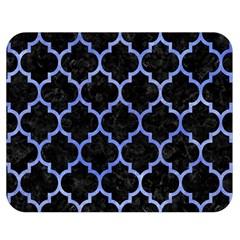 Tile1 Black Marble & Blue Watercolor Double Sided Flano Blanket (medium) by trendistuff
