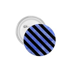 Stripes3 Black Marble & Blue Watercolor (r) 1 75  Button by trendistuff
