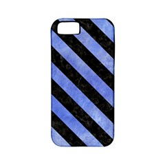 Stripes3 Black Marble & Blue Watercolor (r) Apple Iphone 5 Classic Hardshell Case (pc+silicone) by trendistuff