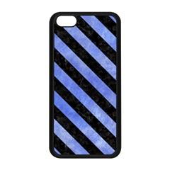 Stripes3 Black Marble & Blue Watercolor (r) Apple Iphone 5c Seamless Case (black) by trendistuff
