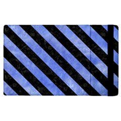 Stripes3 Black Marble & Blue Watercolor (r) Apple Ipad Pro 12 9   Flip Case by trendistuff