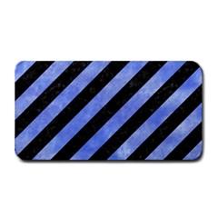 Stripes3 Black Marble & Blue Watercolor Medium Bar Mat by trendistuff