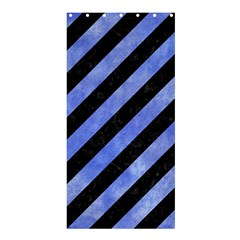 Stripes3 Black Marble & Blue Watercolor Shower Curtain 36  X 72  (stall) by trendistuff