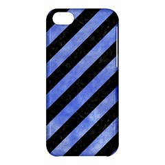 Stripes3 Black Marble & Blue Watercolor Apple Iphone 5c Hardshell Case by trendistuff