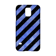 Stripes3 Black Marble & Blue Watercolor Samsung Galaxy S5 Hardshell Case  by trendistuff
