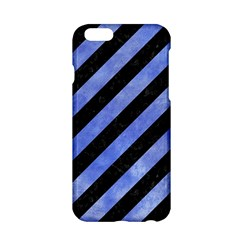 Stripes3 Black Marble & Blue Watercolor Apple Iphone 6/6s Hardshell Case