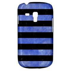 Stripes2 Black Marble & Blue Watercolor Samsung Galaxy S3 Mini I8190 Hardshell Case by trendistuff