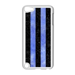 Stripes1 Black Marble & Blue Watercolor Apple Ipod Touch 5 Case (white) by trendistuff
