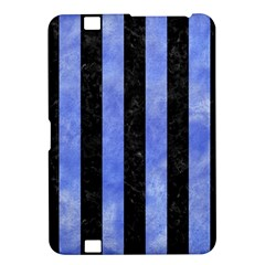 Stripes1 Black Marble & Blue Watercolor Kindle Fire Hd 8 9  Hardshell Case by trendistuff
