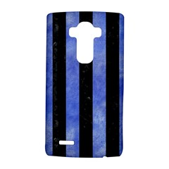 Stripes1 Black Marble & Blue Watercolor Lg G4 Hardshell Case by trendistuff
