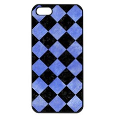Square2 Black Marble & Blue Watercolor Apple Iphone 5 Seamless Case (black) by trendistuff