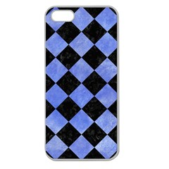 Square2 Black Marble & Blue Watercolor Apple Seamless Iphone 5 Case (clear) by trendistuff