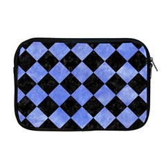 Square2 Black Marble & Blue Watercolor Apple Macbook Pro 17  Zipper Case by trendistuff