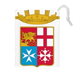 Coat Of Arms Of The Italian Navy  Drawstring Pouches (extra Large) by abbeyz71
