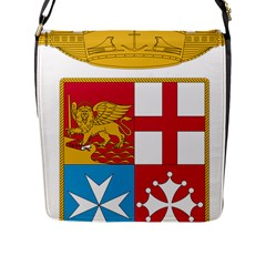 Coat Of Arms Of The Italian Navy Flap Messenger Bag (l)  by abbeyz71