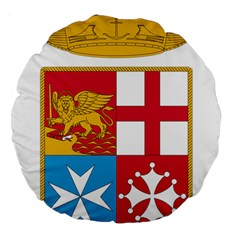 Coat Of Arms Of The Italian Navy Large 18  Premium Flano Round Cushions by abbeyz71
