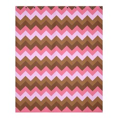 Shades Of Pink And Brown Retro Zigzag Chevron Pattern Shower Curtain 60  X 72  (medium)  by Nexatart
