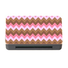 Shades Of Pink And Brown Retro Zigzag Chevron Pattern Memory Card Reader With Cf by Nexatart