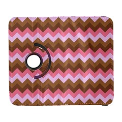 Shades Of Pink And Brown Retro Zigzag Chevron Pattern Galaxy S3 (flip/folio)