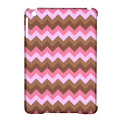 Shades Of Pink And Brown Retro Zigzag Chevron Pattern Apple Ipad Mini Hardshell Case (compatible With Smart Cover) by Nexatart