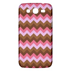 Shades Of Pink And Brown Retro Zigzag Chevron Pattern Samsung Galaxy Mega 5 8 I9152 Hardshell Case  by Nexatart
