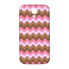 Shades Of Pink And Brown Retro Zigzag Chevron Pattern Samsung Galaxy S4 I9500/i9505  Hardshell Back Case