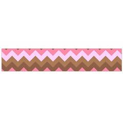 Shades Of Pink And Brown Retro Zigzag Chevron Pattern Flano Scarf (large)