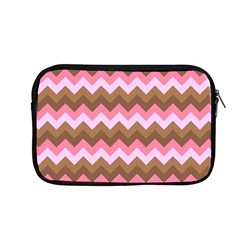 Shades Of Pink And Brown Retro Zigzag Chevron Pattern Apple Macbook Pro 13  Zipper Case by Nexatart