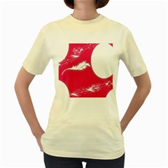 Hintergrund Tapete Texture Women s Yellow T Shirt