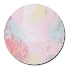 Watercolor Floral Round Mousepads by Nexatart