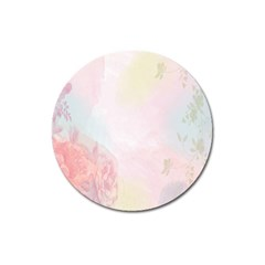 Watercolor Floral Magnet 3  (round) by Nexatart