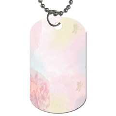 Watercolor Floral Dog Tag (one Side)