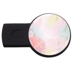 Watercolor Floral Usb Flash Drive Round (2 Gb) by Nexatart