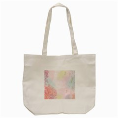 Watercolor Floral Tote Bag (cream) by Nexatart