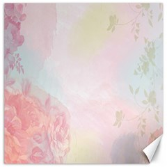 Watercolor Floral Canvas 12  X 12