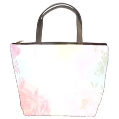 Watercolor Floral Bucket Bags by Nexatart